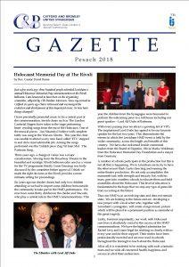Catford and Bromley Synagogue Gazette pesach 2018