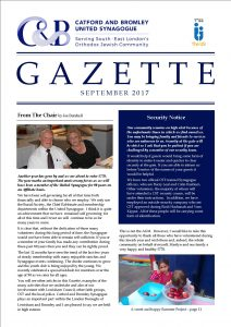 catford and bromley synagogue gazette rosh hashanah 2017