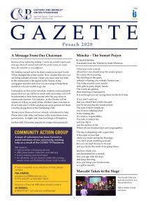 Catford and Bromley Synagogue Gazette April 2020